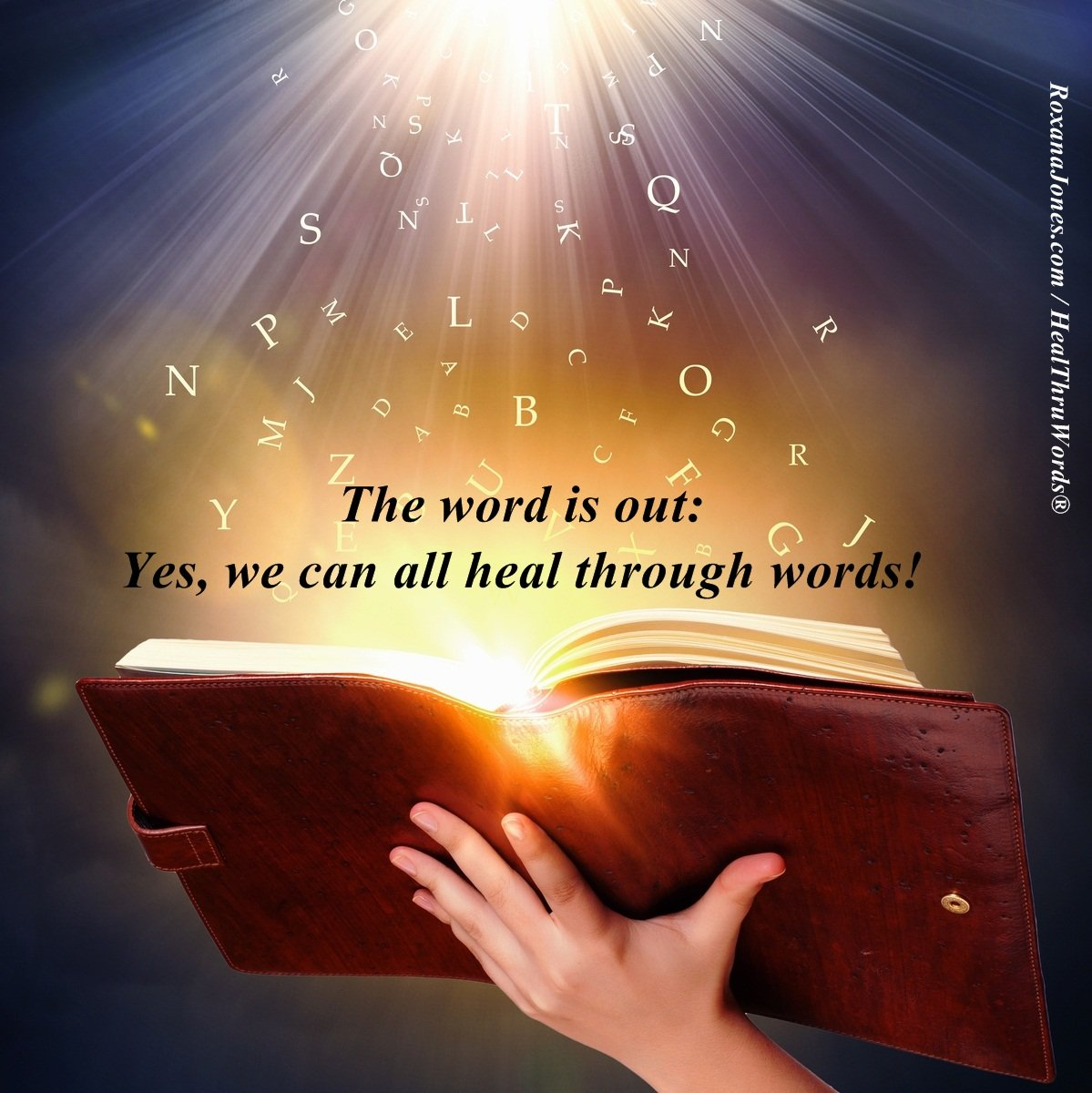 Inspirational Image: Healing Through Words