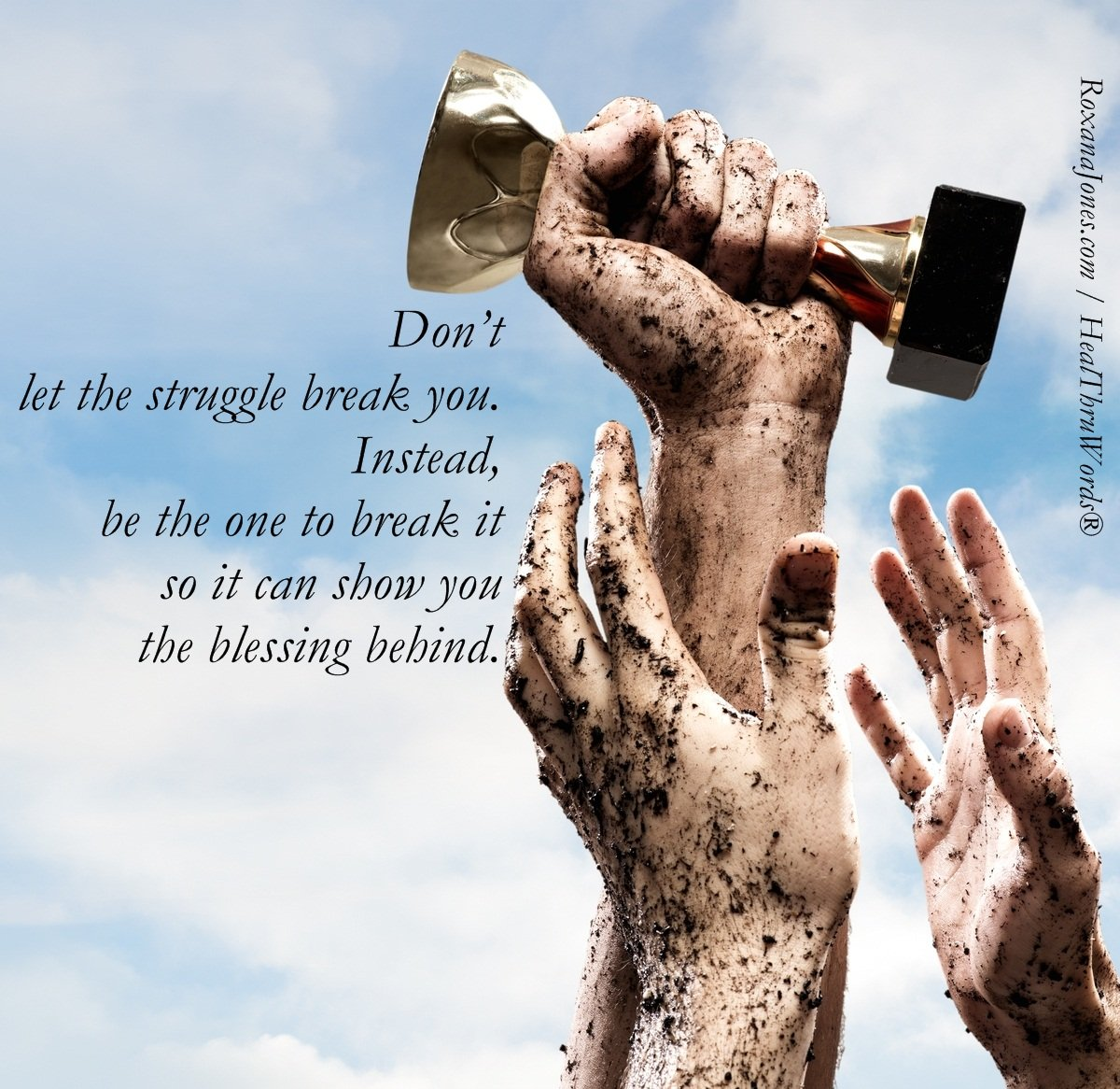 the blessing of struggle inspirational pictures