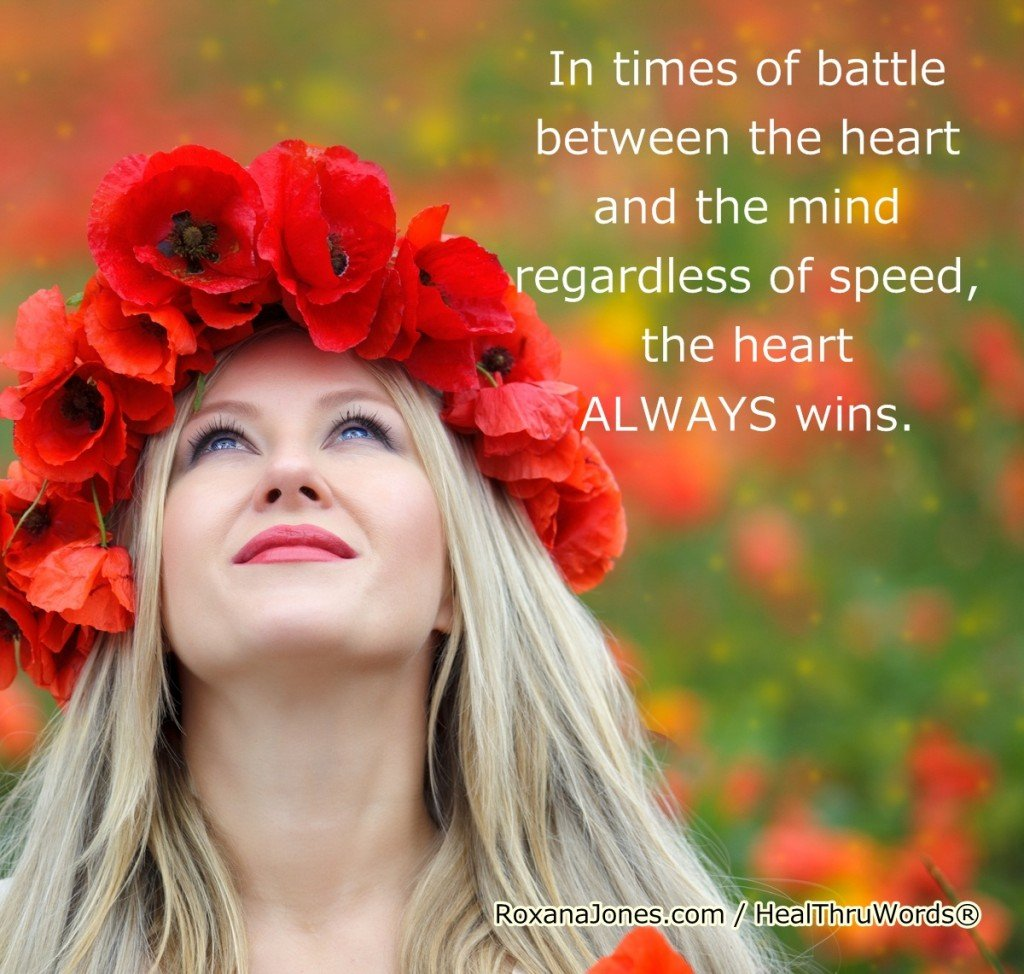 Motivational Image - The Heart Wins