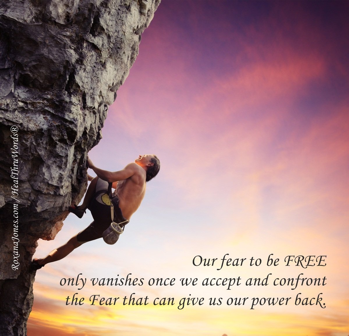 Inspirational Image: Hello, Dear Fear