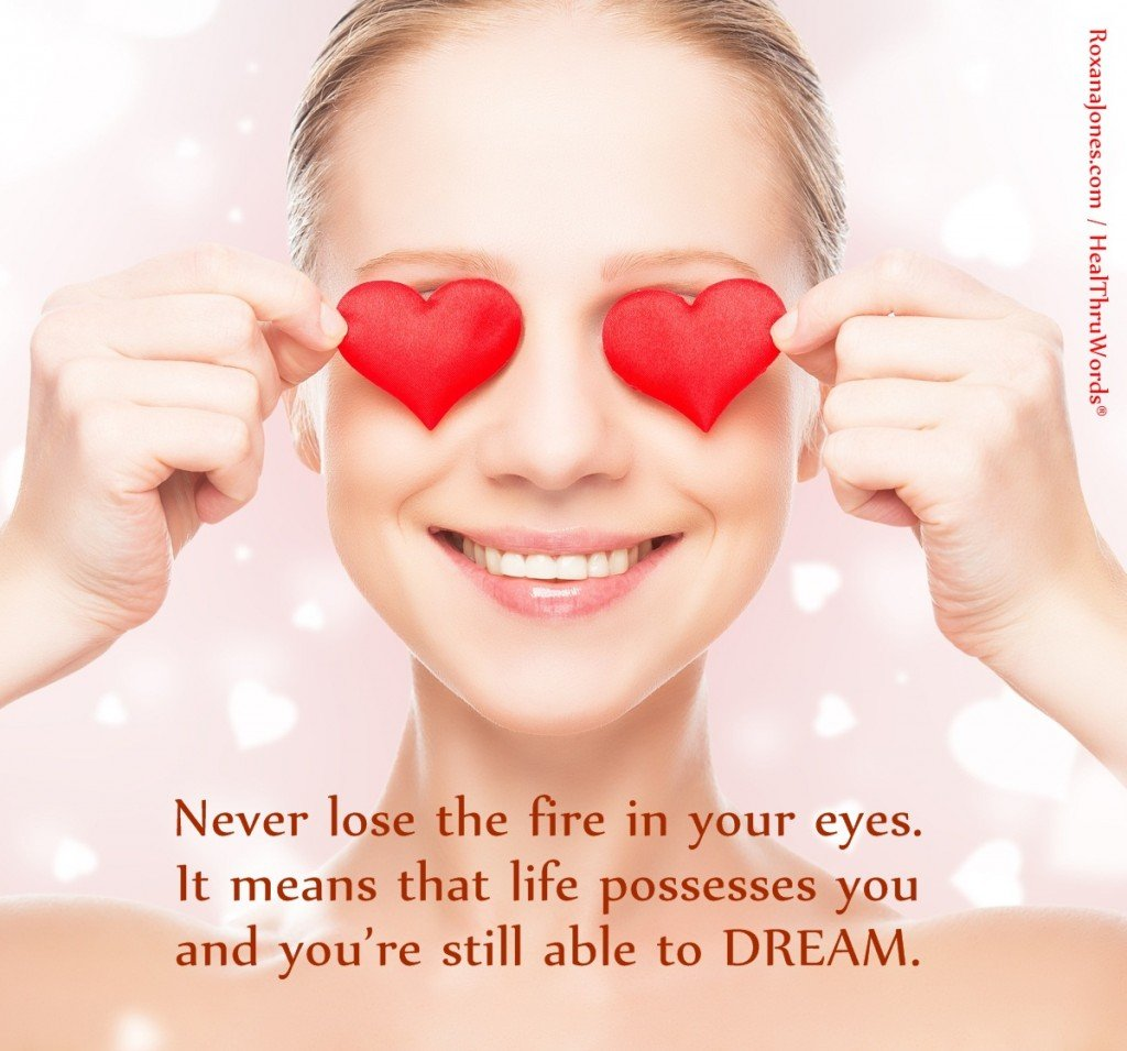 Inspirational Image - The Fire in your Eyes