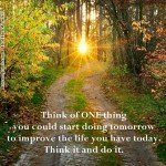 Just One Thing by Roxana Jones - Inspirational Pictures