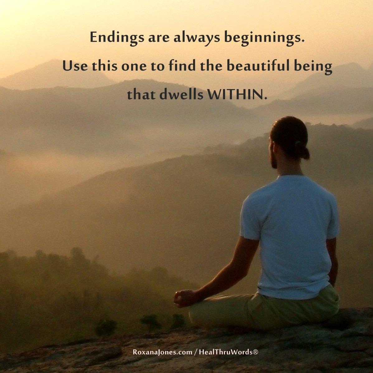 Inspirational Image: Begin Within