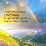 God is not Religion by Roxana Jones - Inspirational Pictures