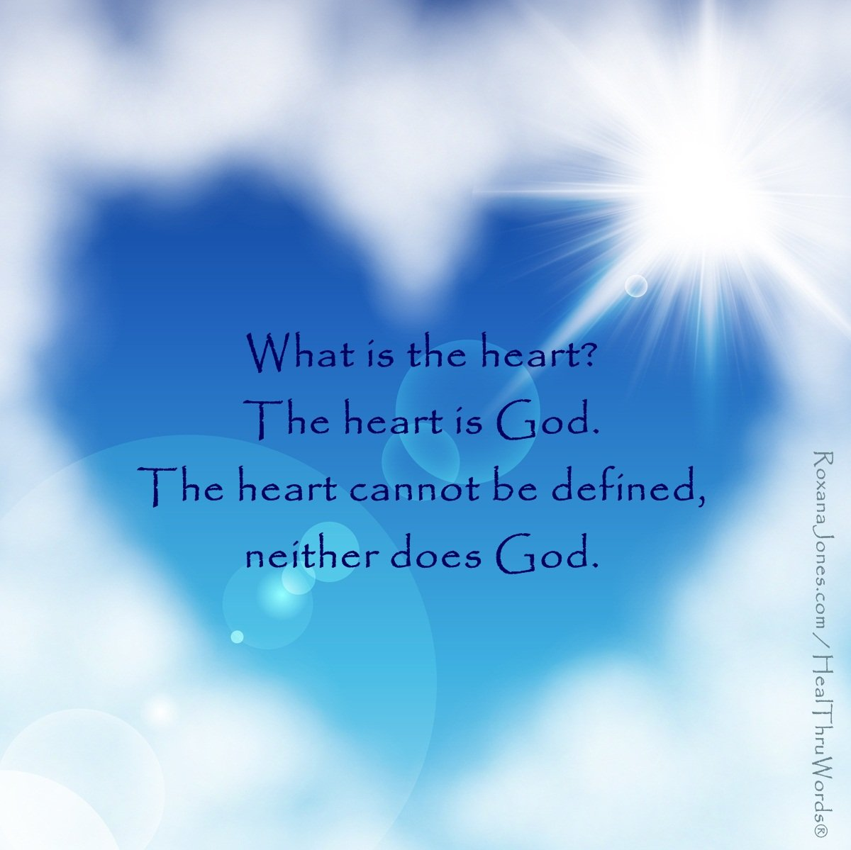 Inspirational Image: The Heart is God