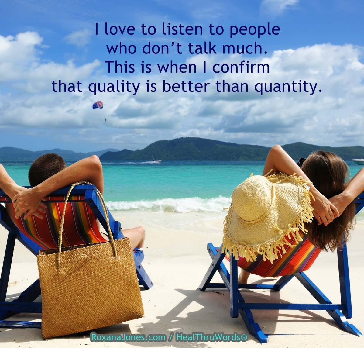 Inspirational Image: Listen to Quality