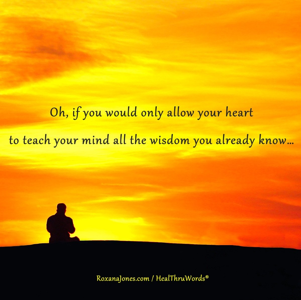 Inspirational Image: Your Wise Heart
