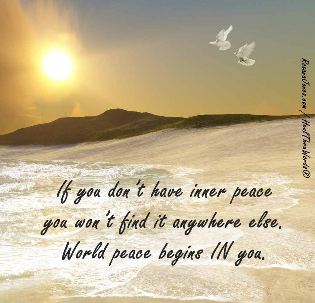Inspirational Quote - Peace is in You