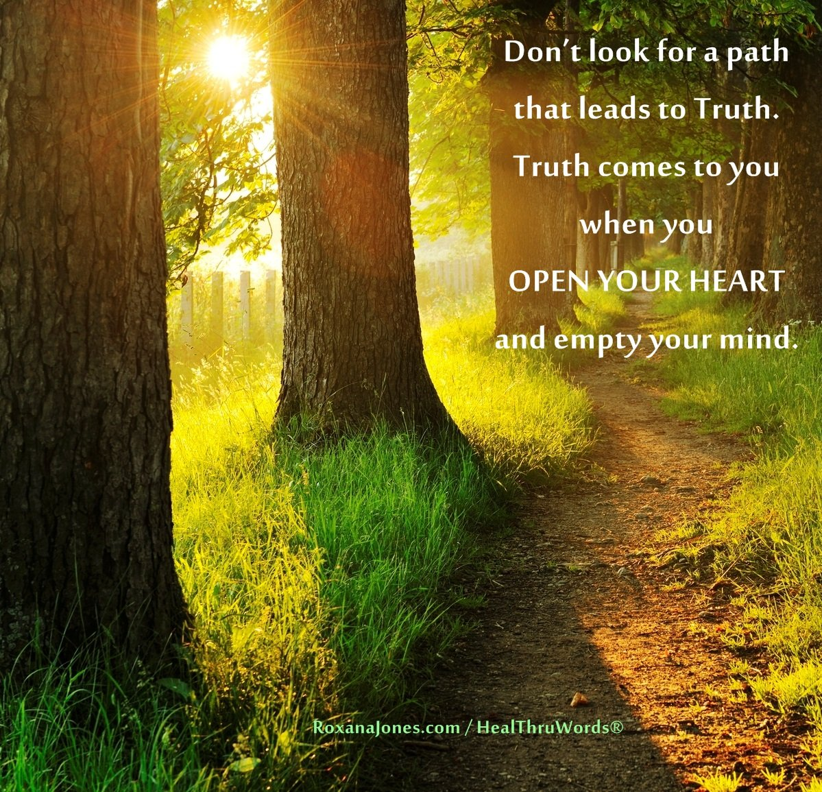 Inspirational Image: Truth Within