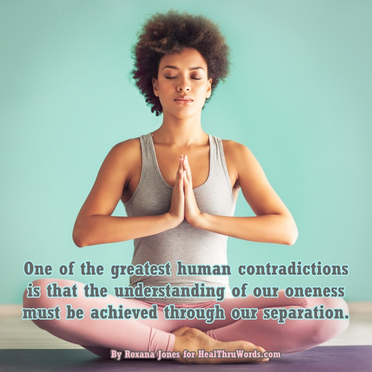 Inspirational Image: From Separation to Oneness