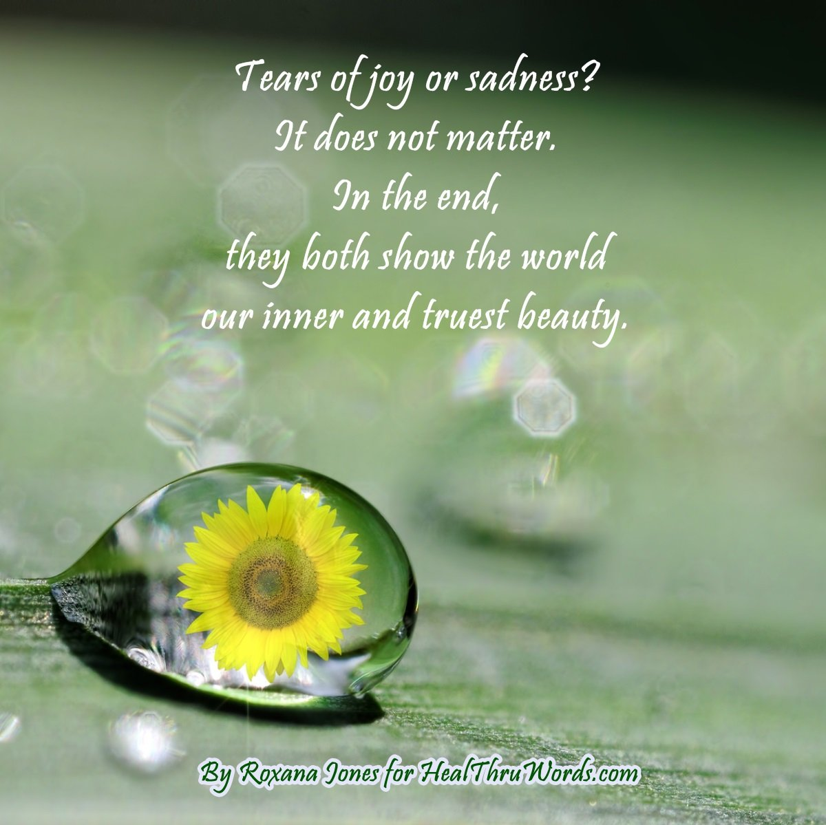 Inspirational Image: Nature of Tears
