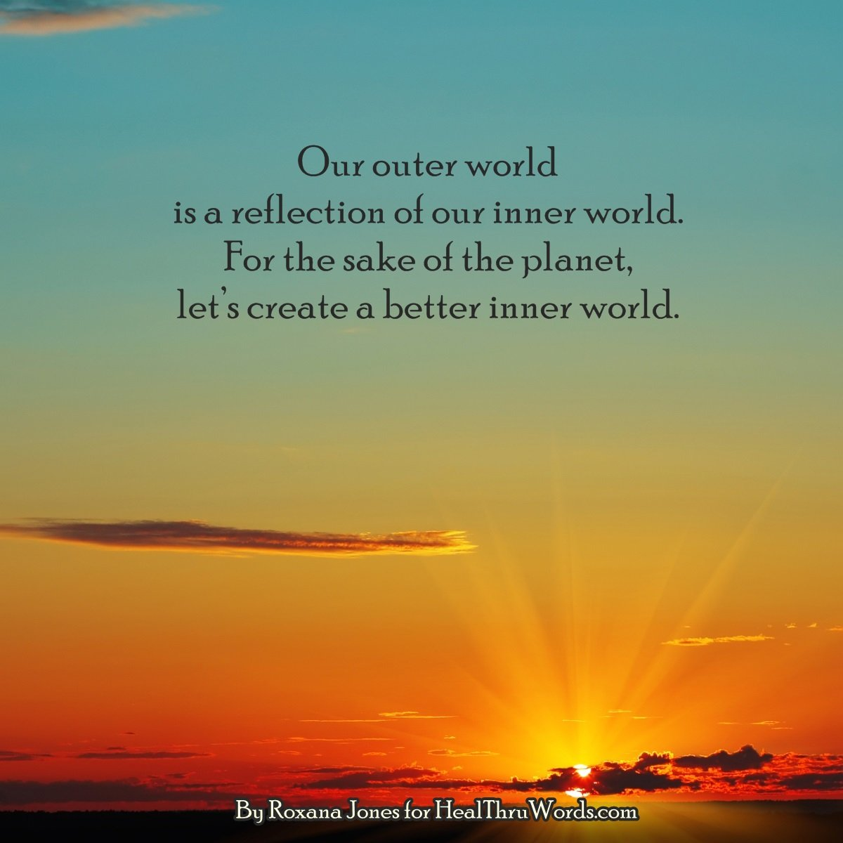 Inspirational Image: Creating the Best World