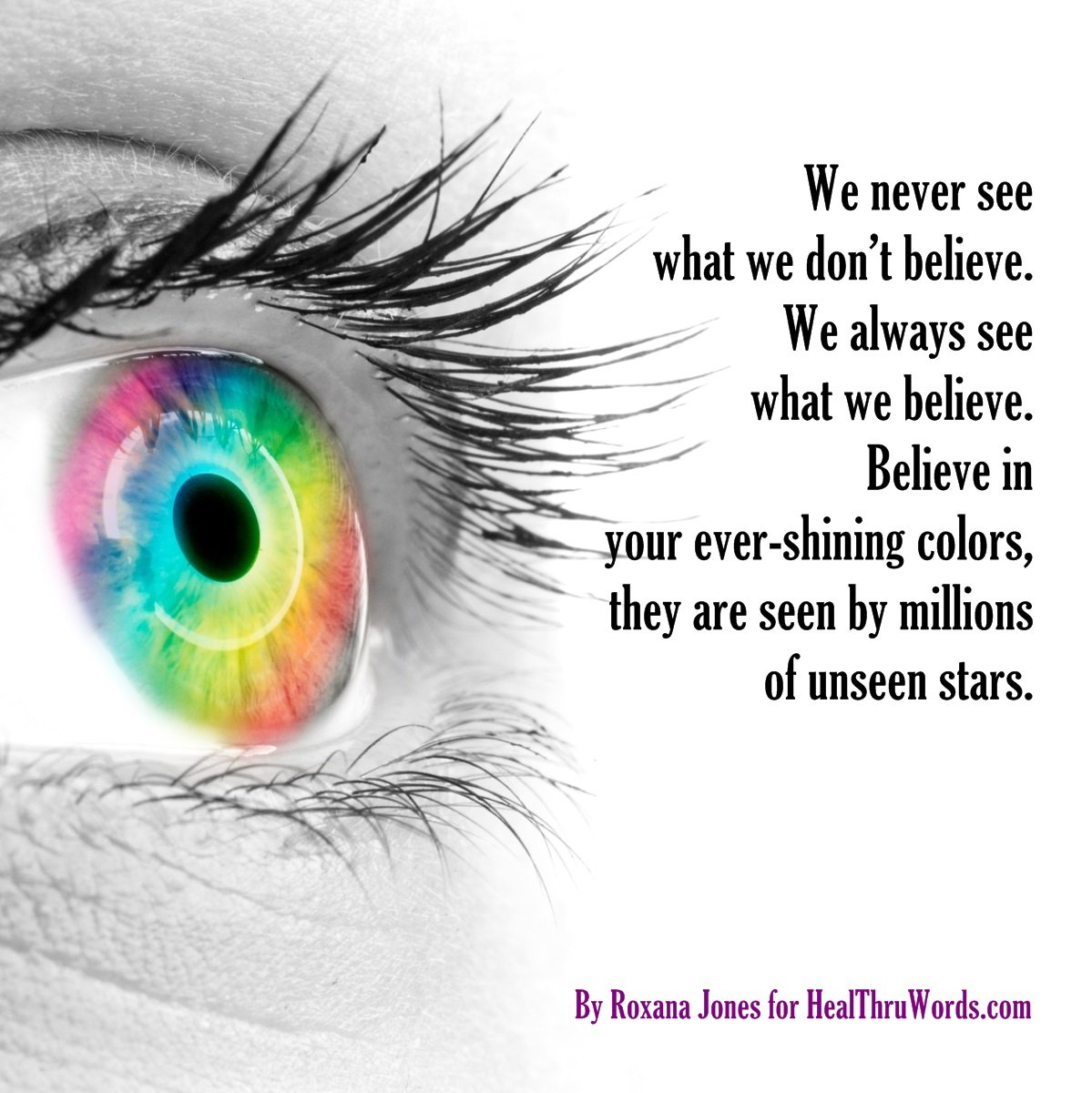 Inspirational Image: Colored Beliefs