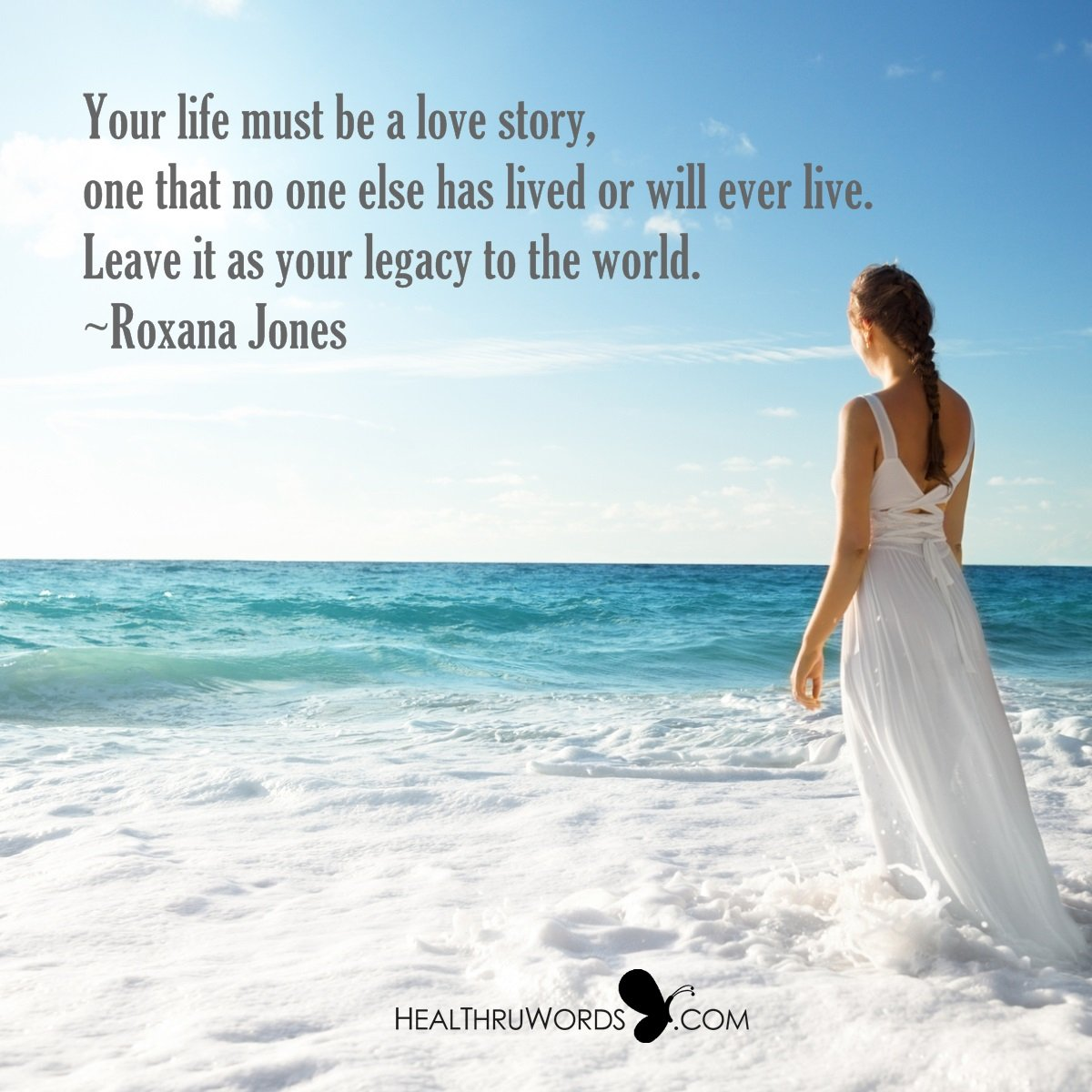 Inspirational Image: A Love Story Under Your Name