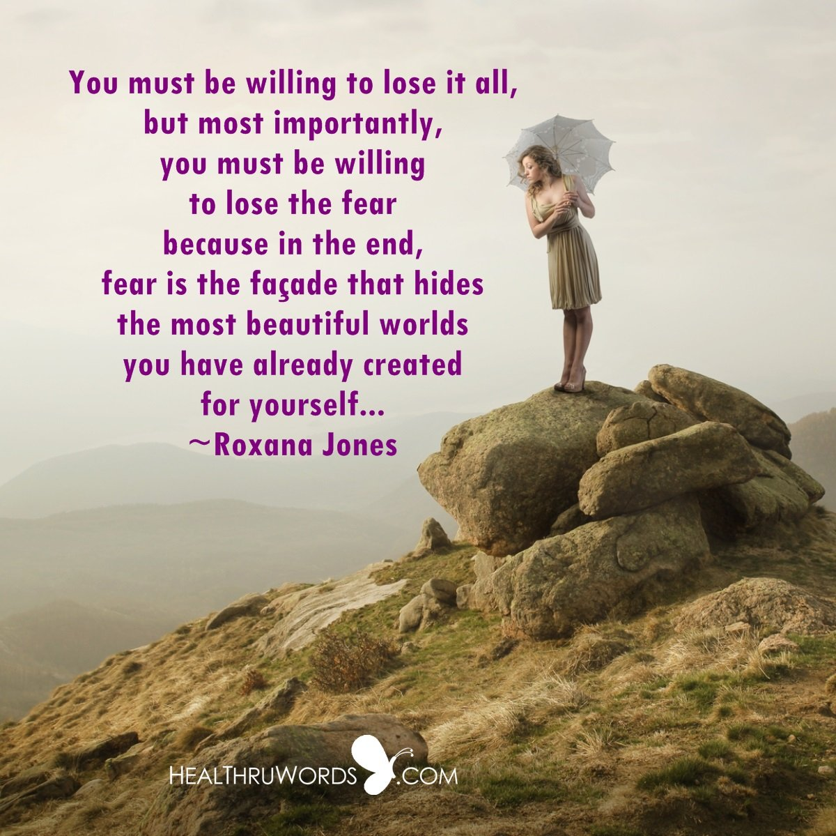 Inspirational Image: Fear of Losing Fear