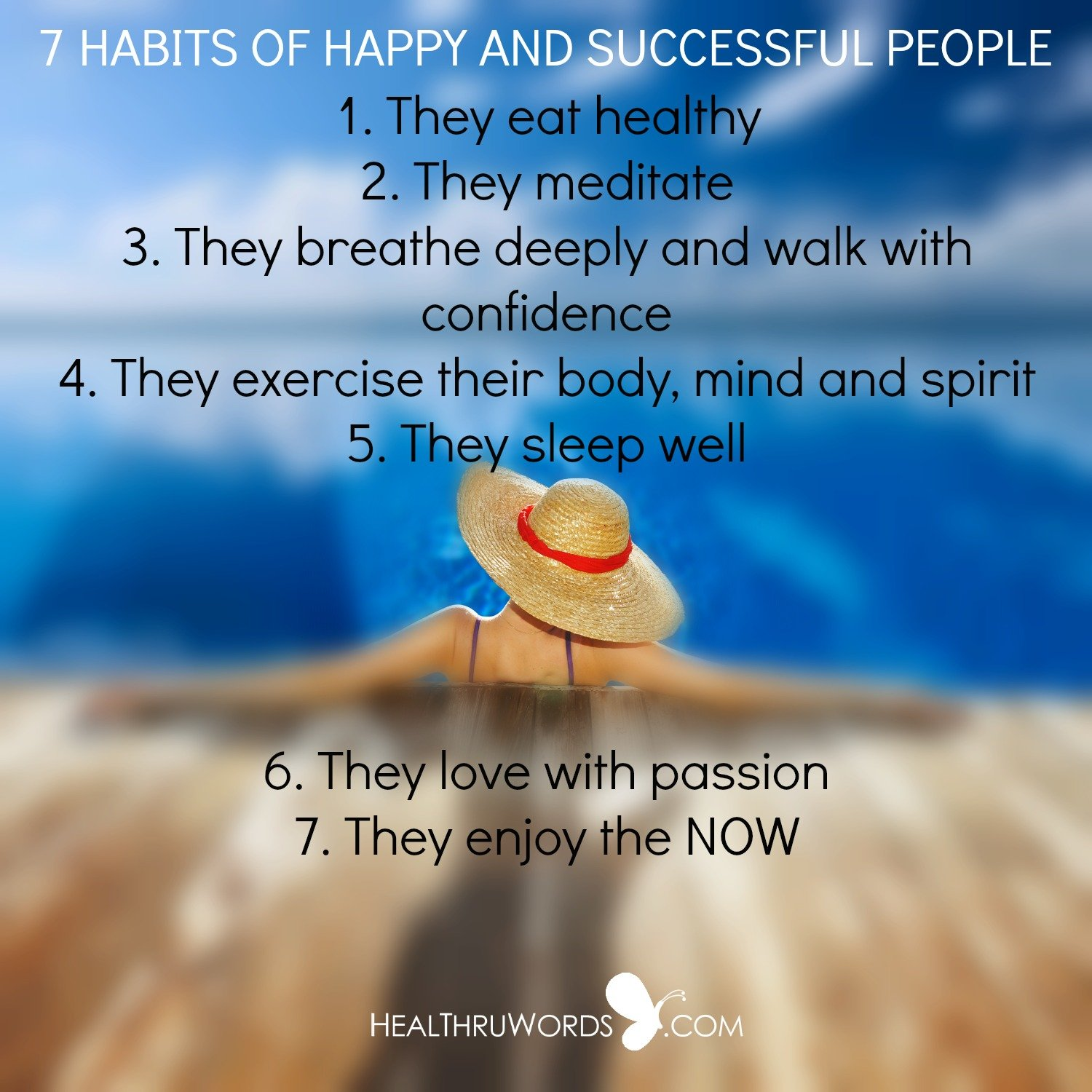 Inspirational Image: 7 Habits of Happy and Successful People