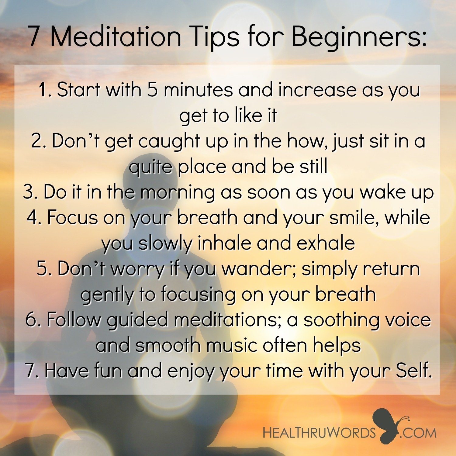 Inspirational Image: 7 Meditation Tips for Beginners