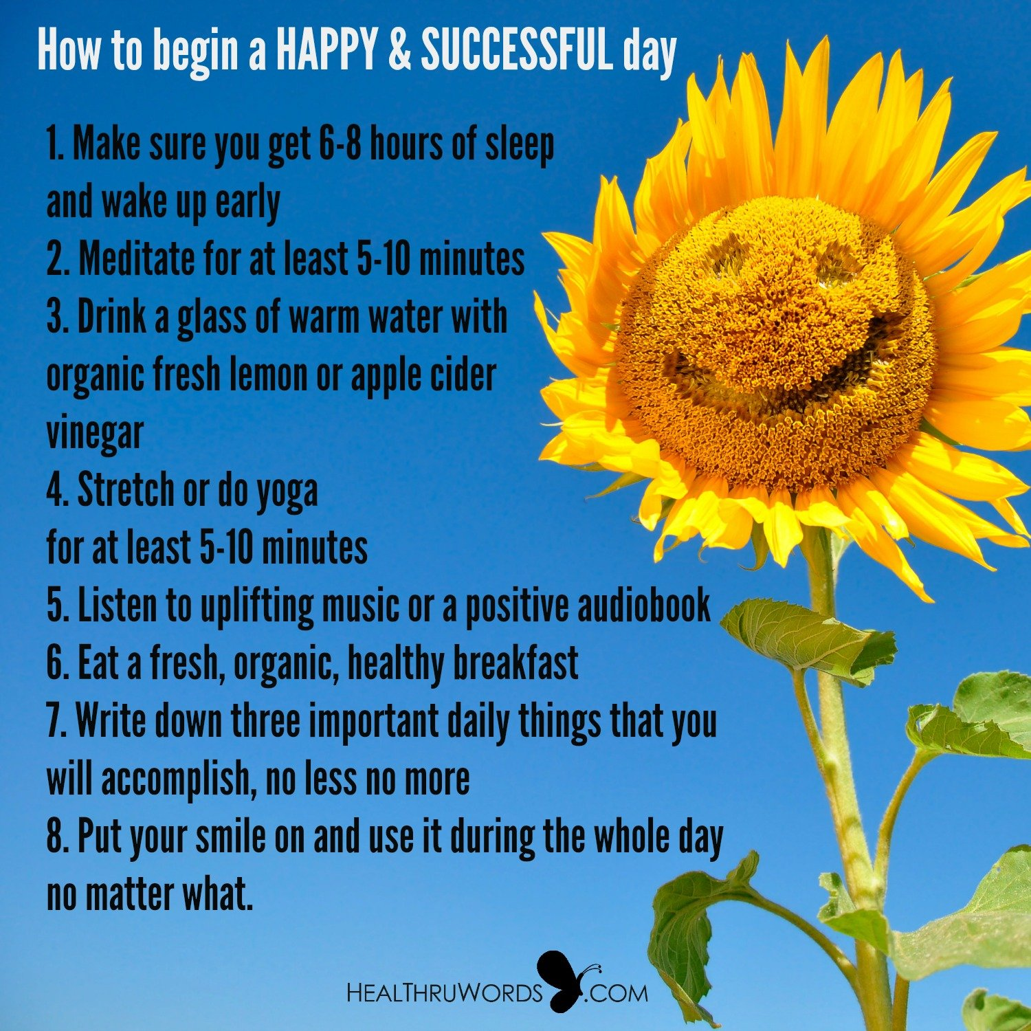 Inspirational Image: How to begin a happy and successful day
