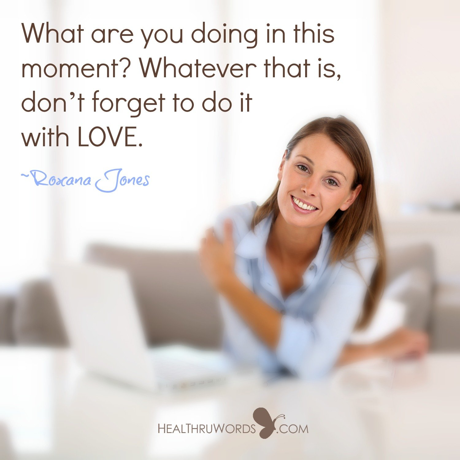 Inspirational Image: Loving the Now