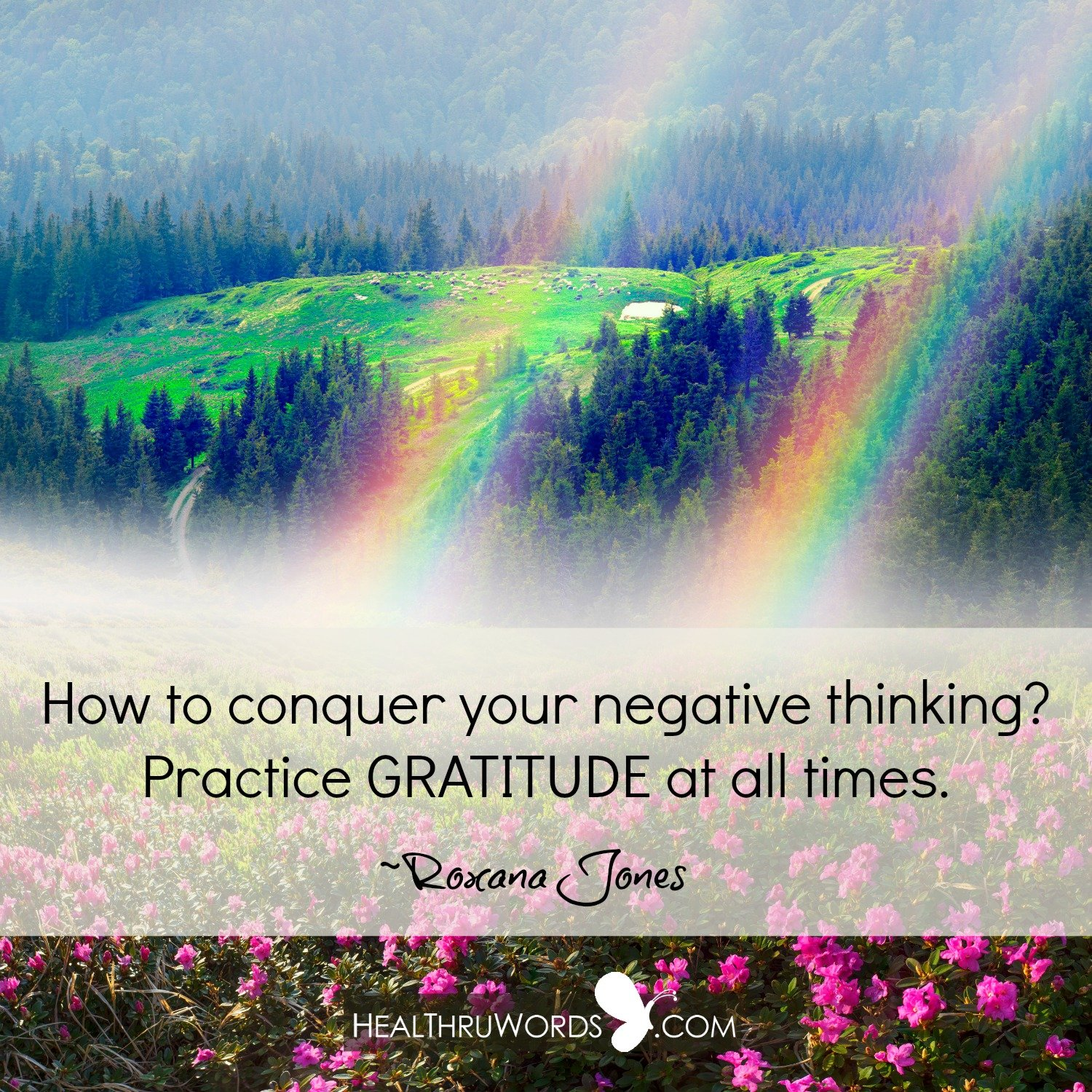 Inspirational Image: The Best Remedy for Negativity