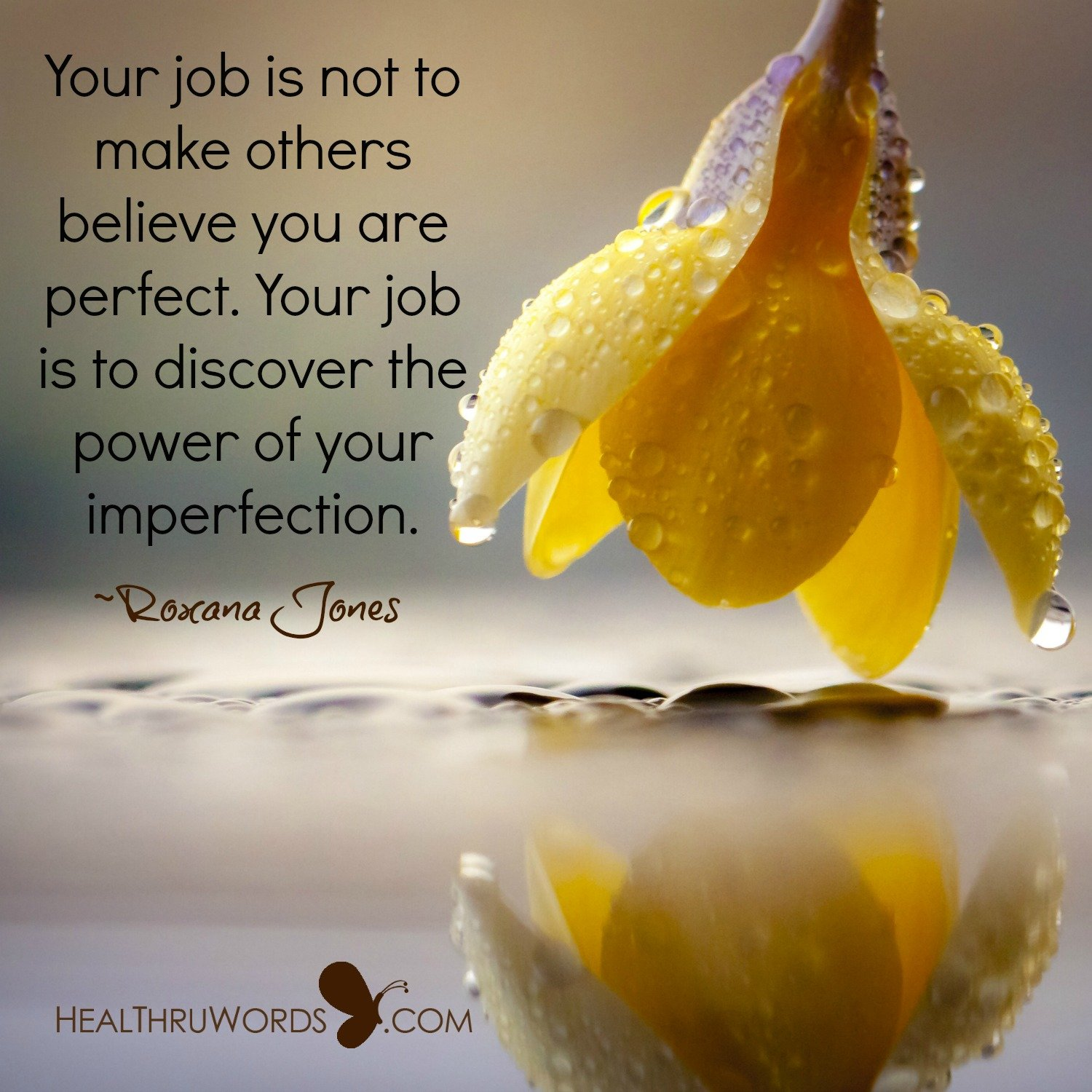 Inspirational Image: Powerful Imperfection