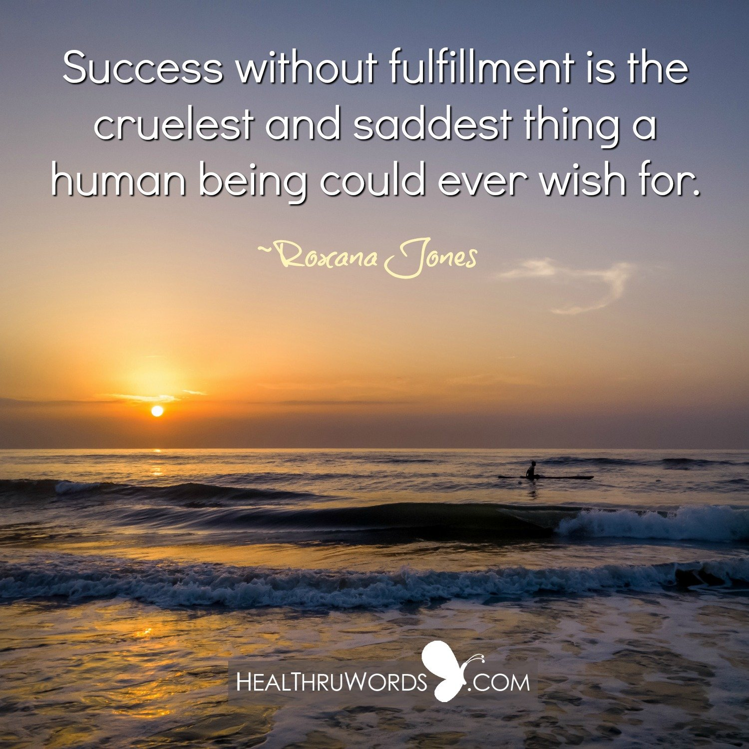 Inspirational Image: Fulfillment over Success