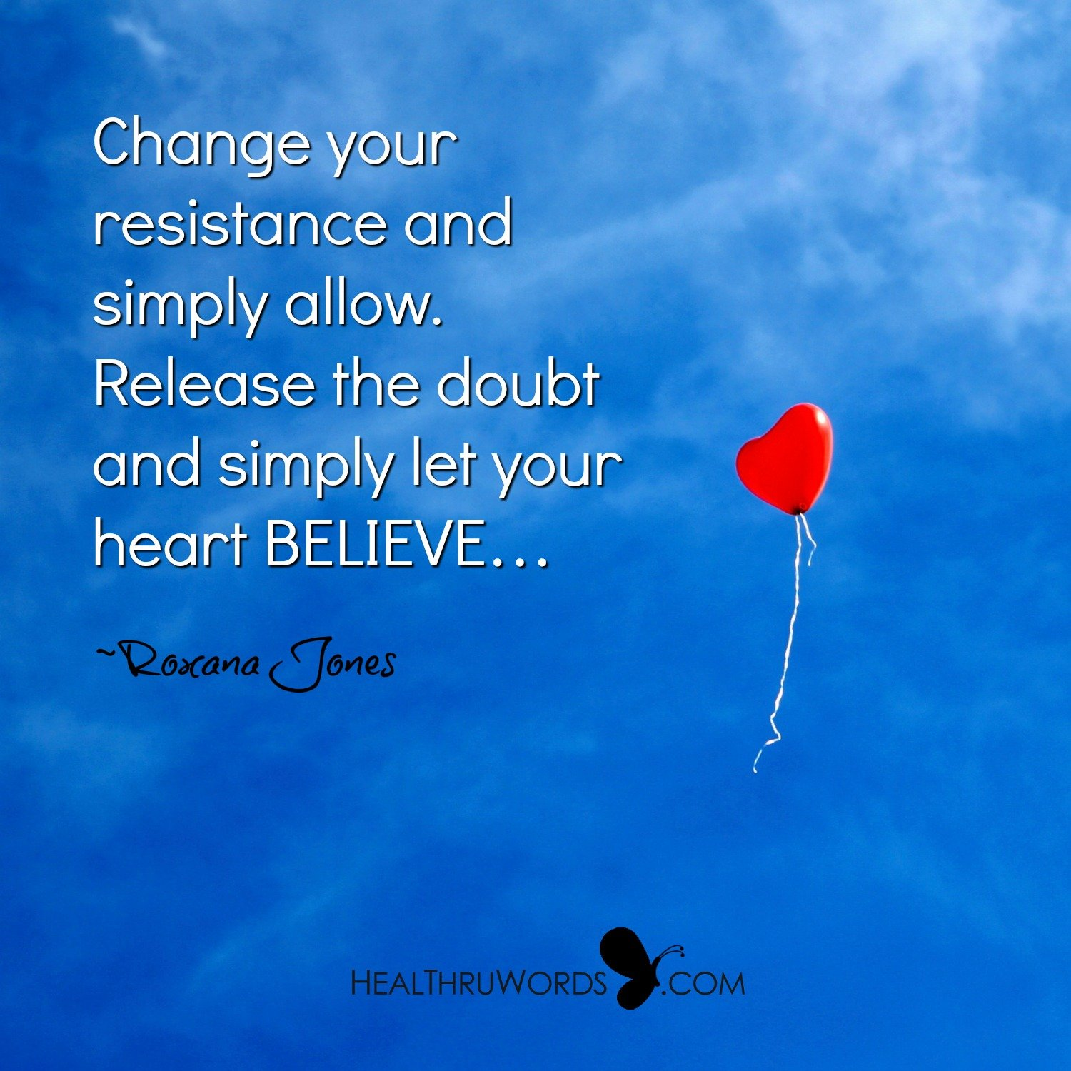 Inspirational Image: Releasing Resistance