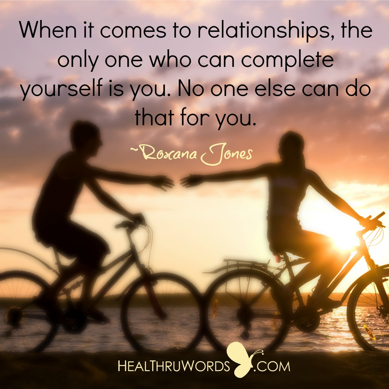Inspirational Image: Completing Yourself