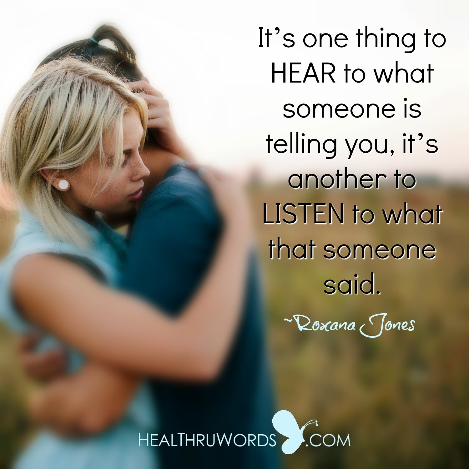 Inspirational Image: Heartful Listening