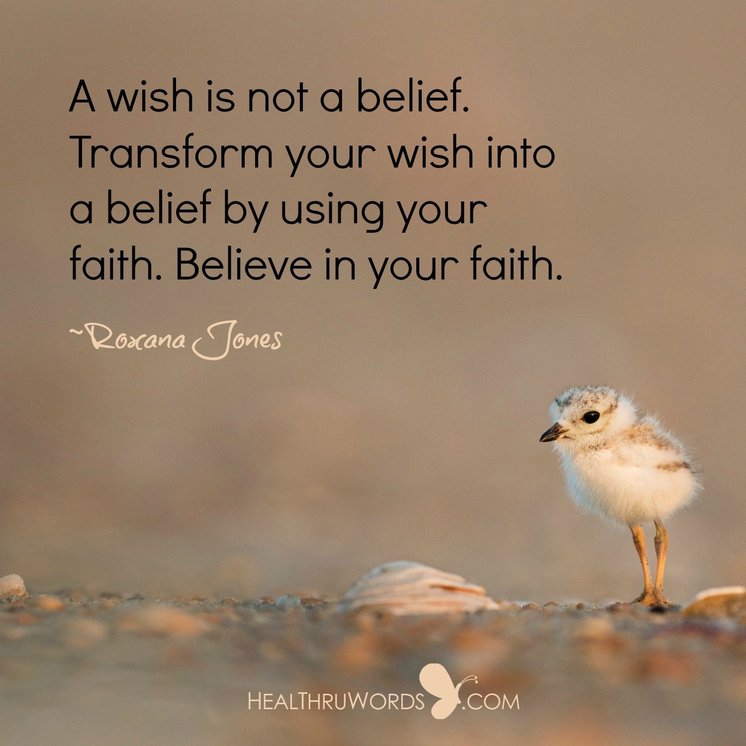 Inspirational Image: From Wishes to Beliefs