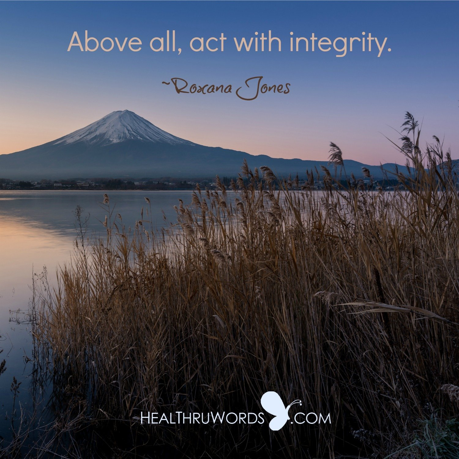 Inspirational Image: Integrity comes First