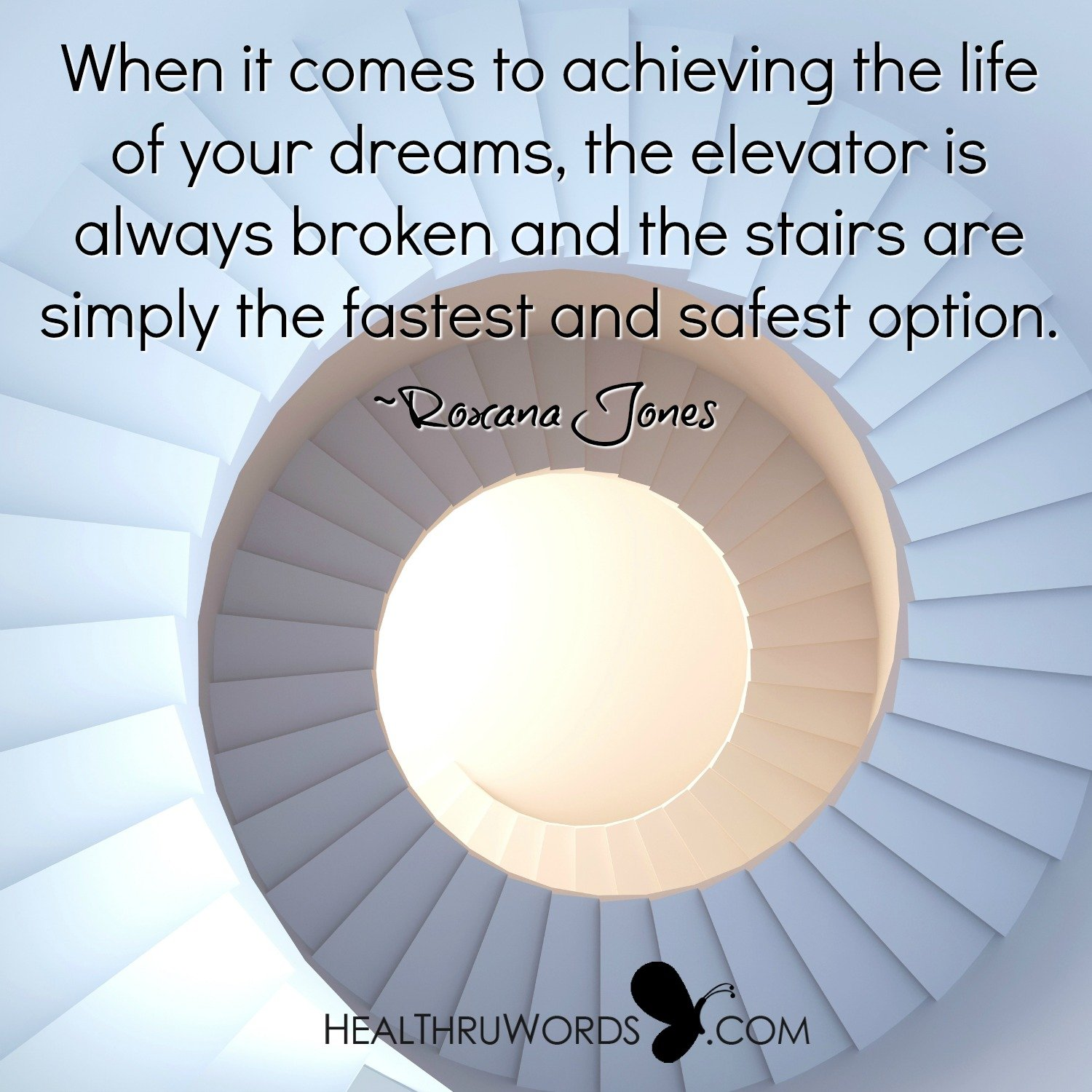 Inspirational Image: Stairway to Success