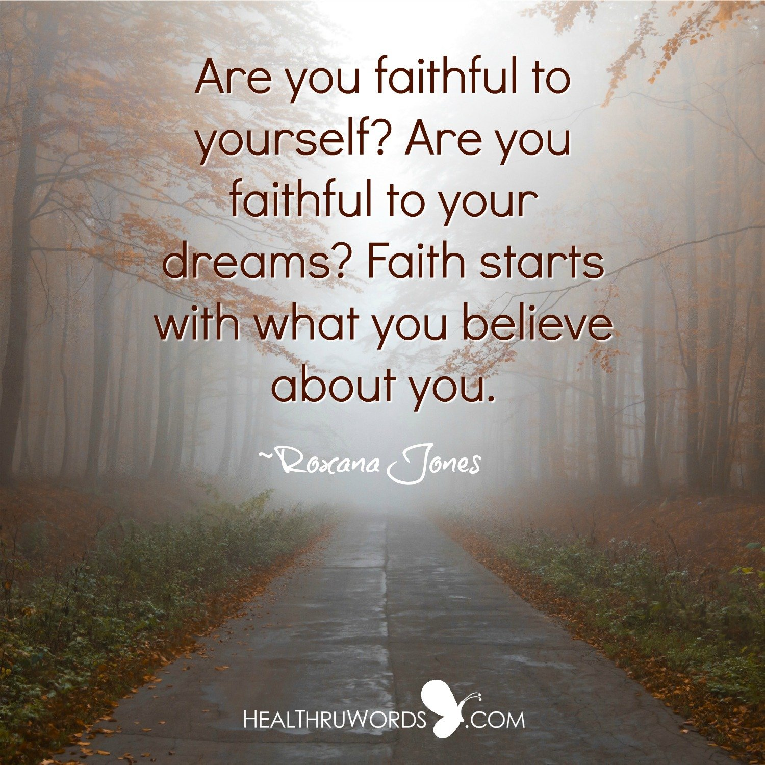 Inspirational Image: Faith in Self