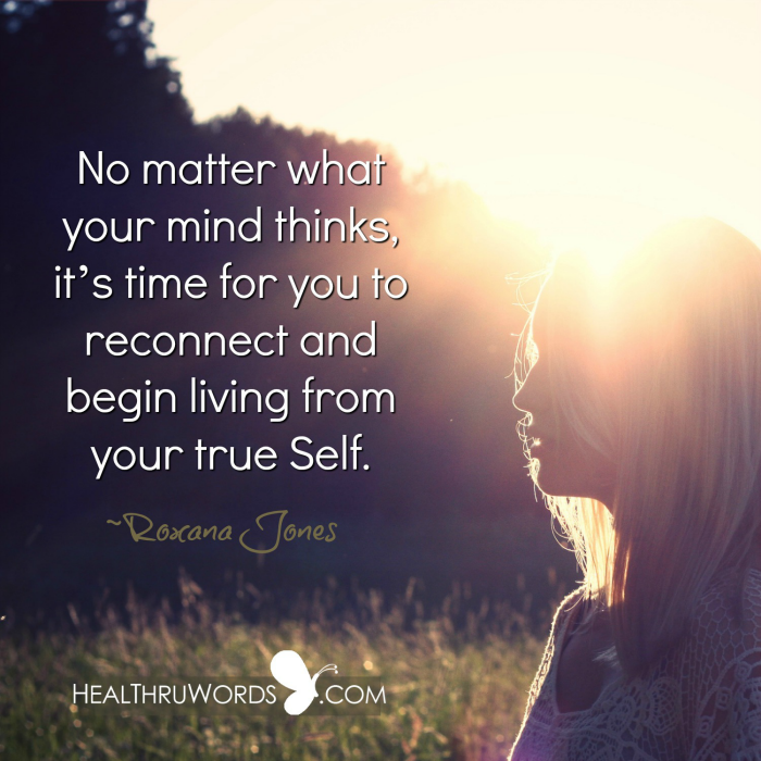 Inspirational Image: Choosing your true Self