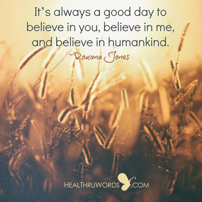 Inspirational Image: Believing