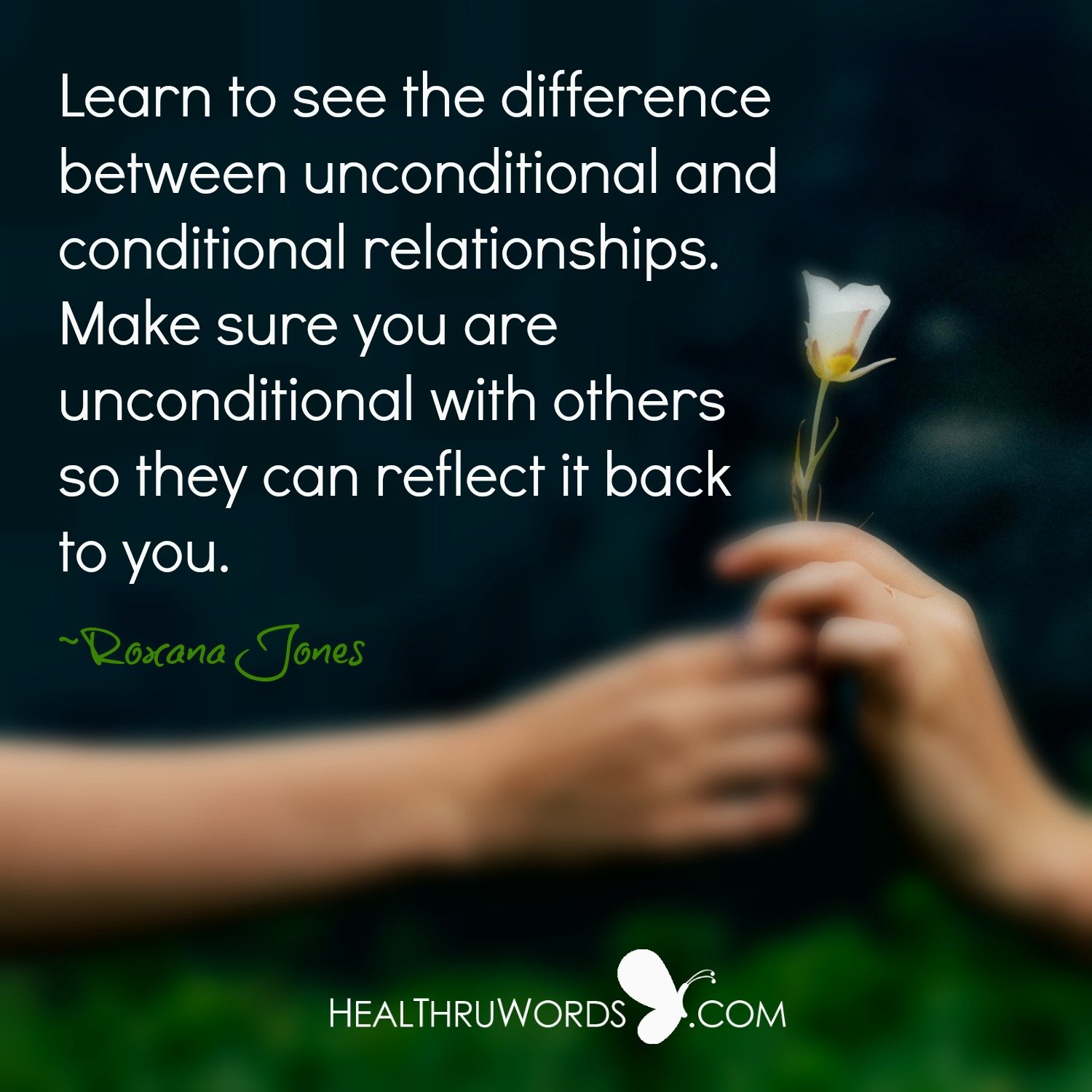 Inspirational Image: Unconditional Reflections