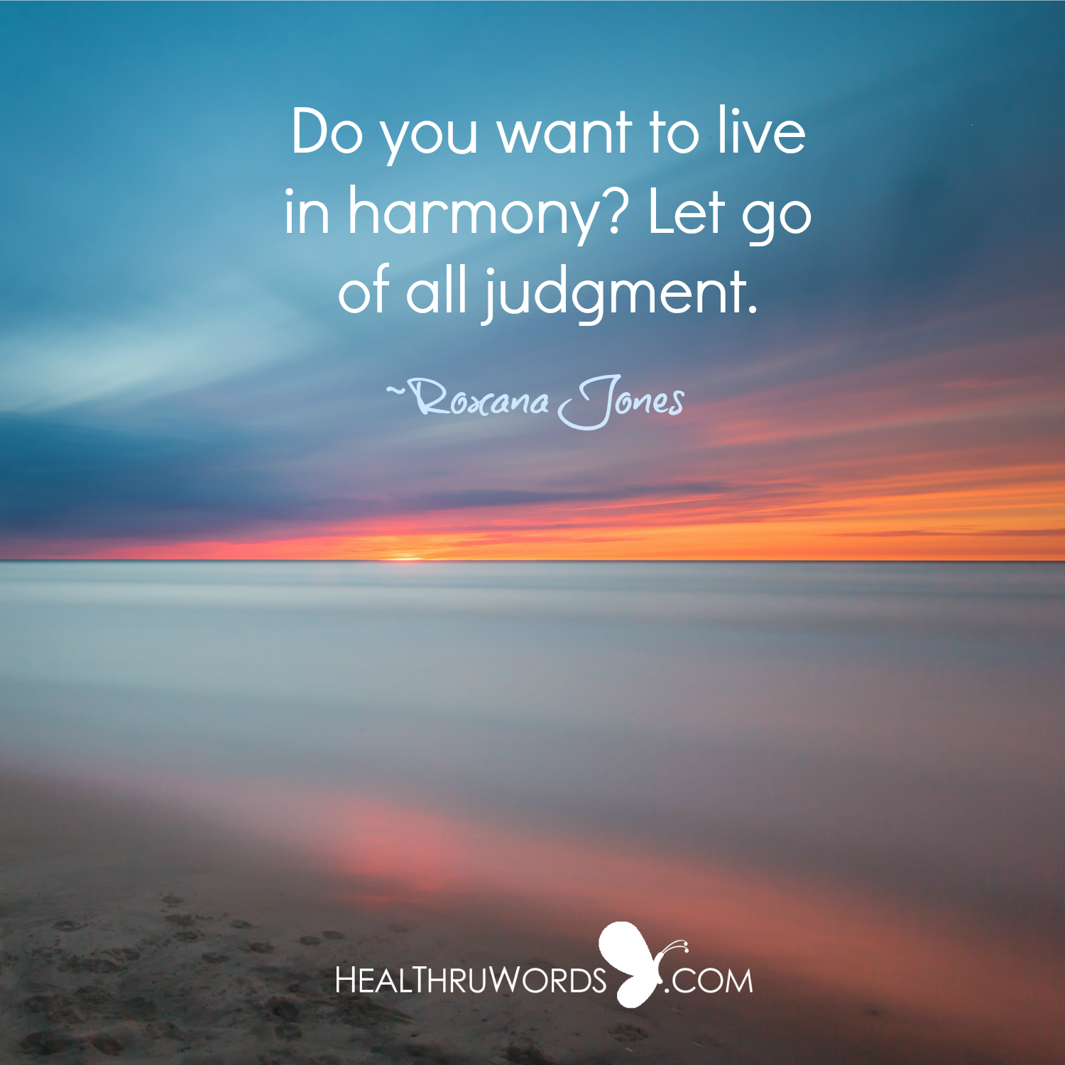 Inspirational Image: From Judgment to Harmony