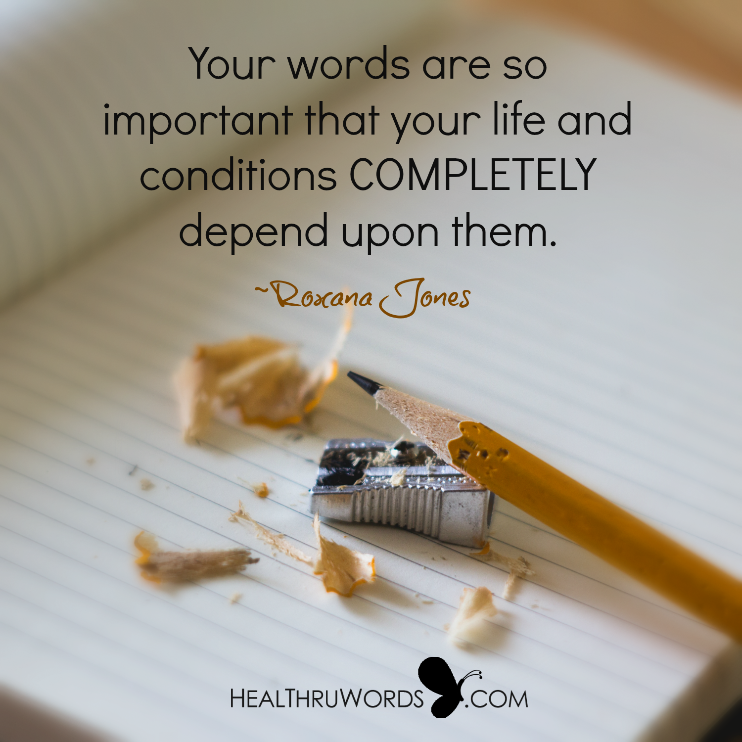 Inspirational Image: The Importance of your Words