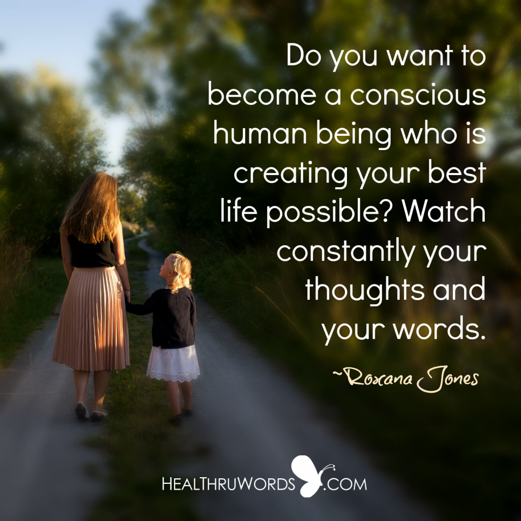Inspirational Image - Thought and Word