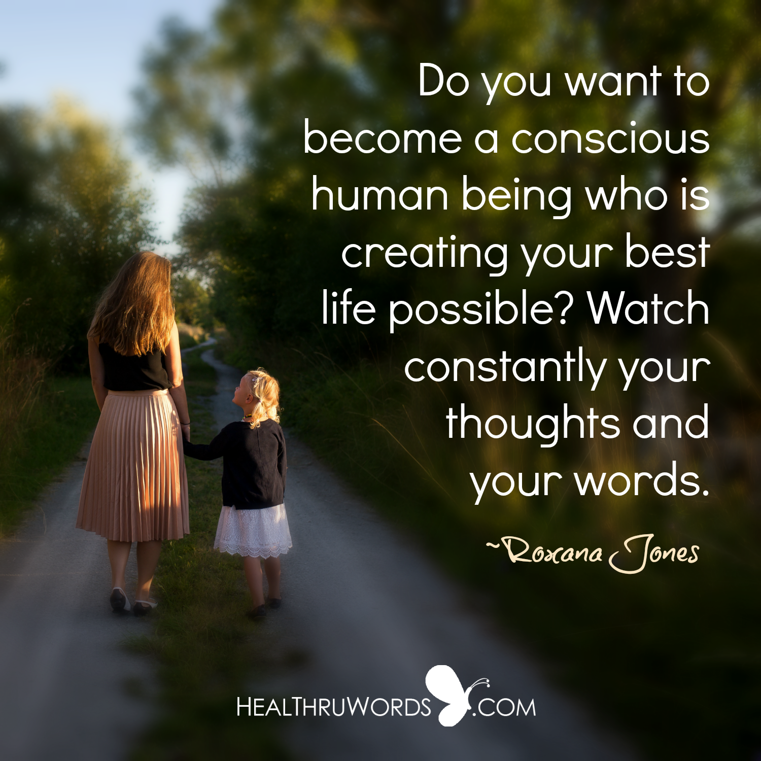 Inspirational Image: Thought and Word