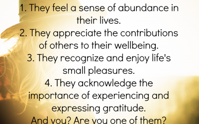 Traits of Grateful People
