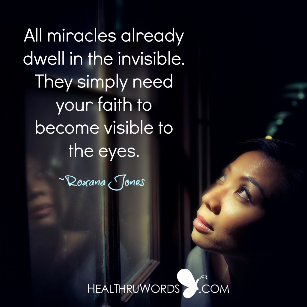 Inspirational Image - Do you believe in miracles?