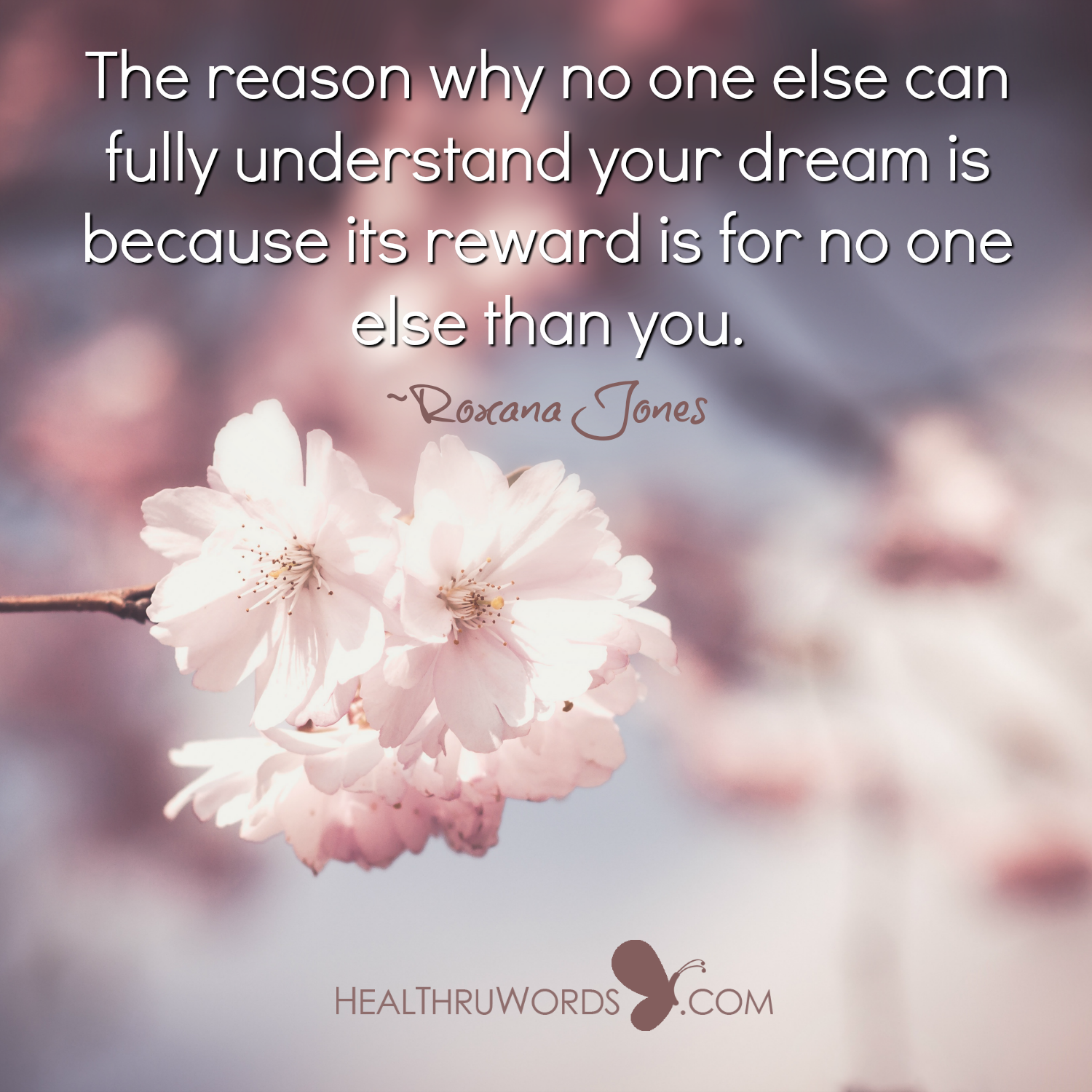 Inspirational Image: The Reward of a Dream