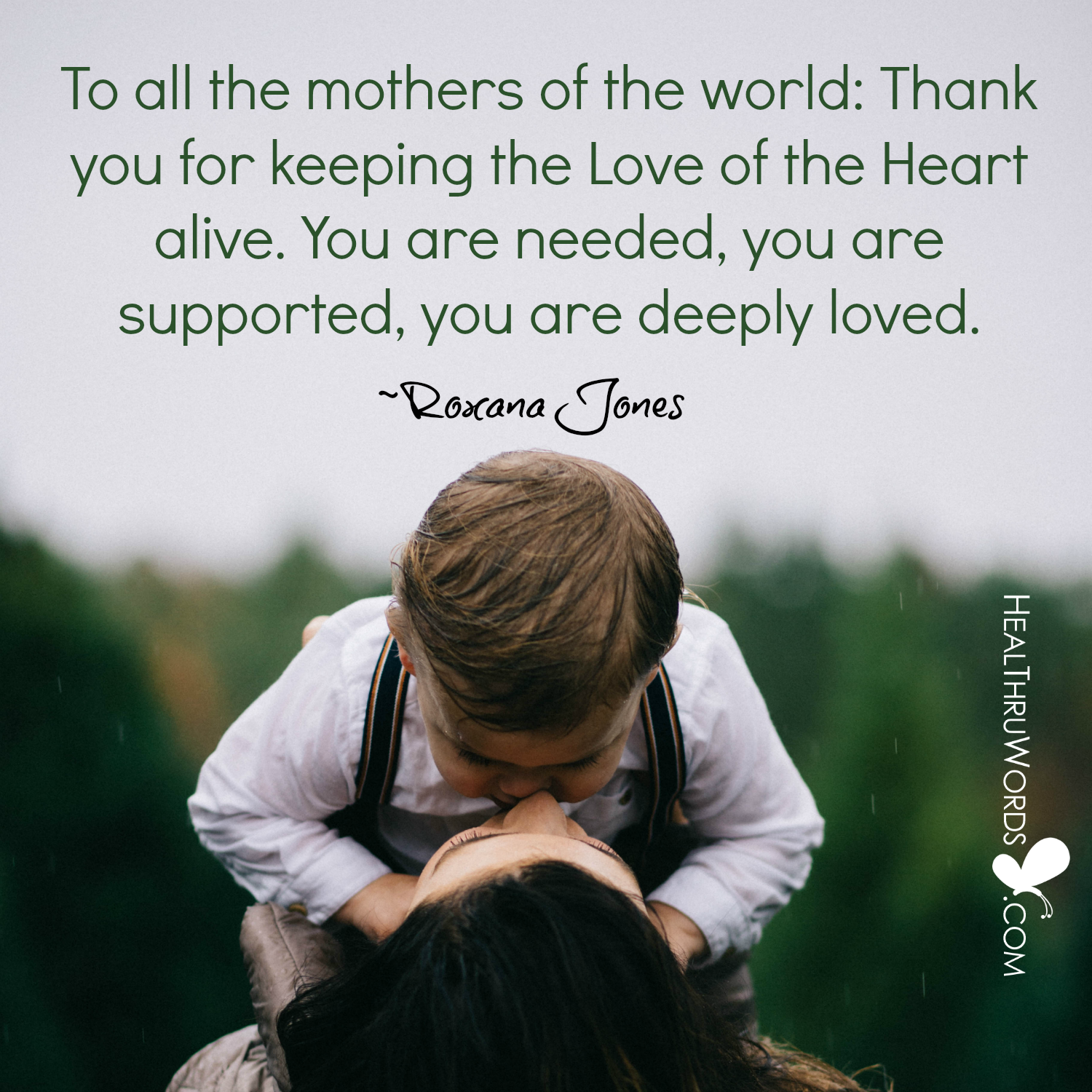 Inspirational Image: Heartful Motherhood