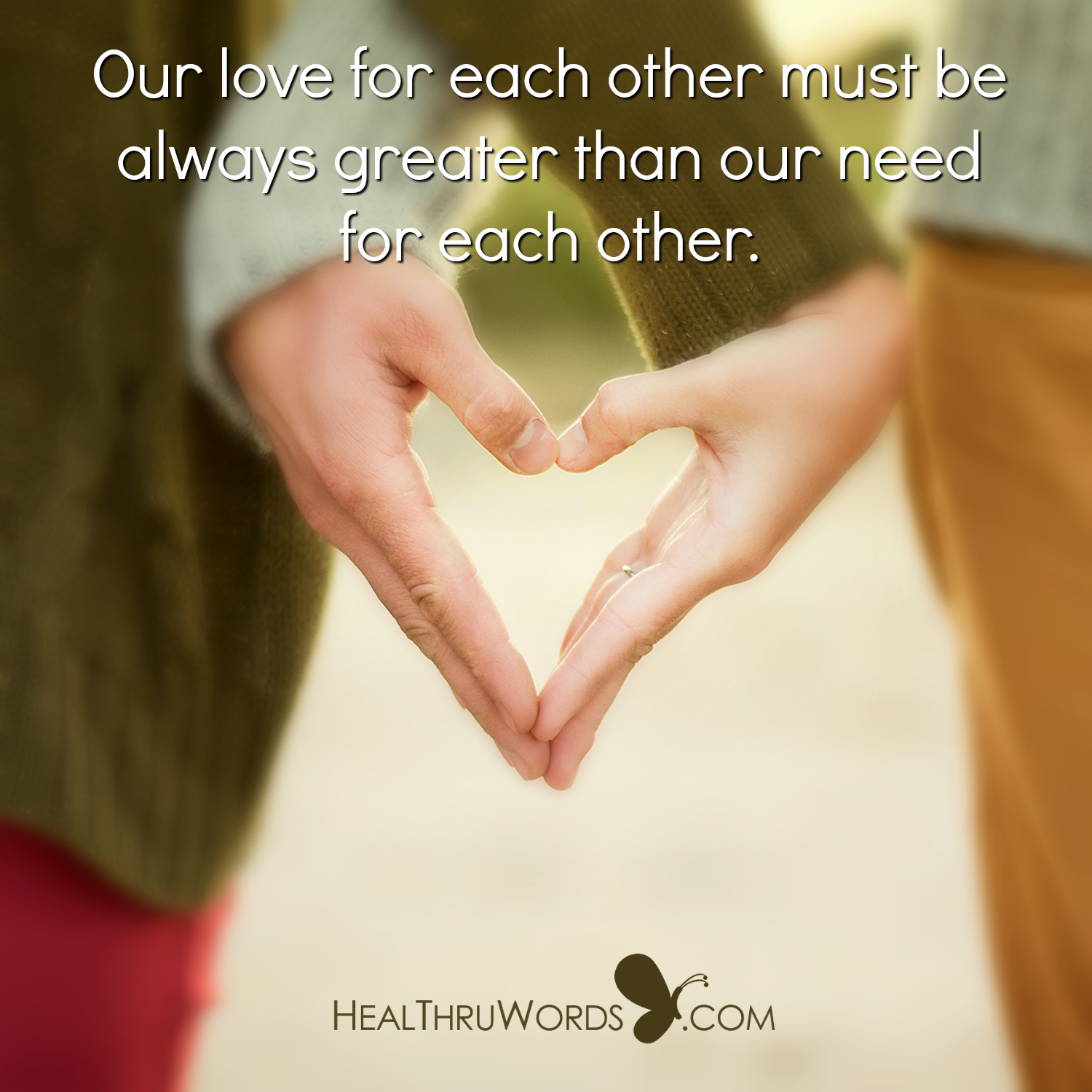 Inspirational Image: Love Over Need