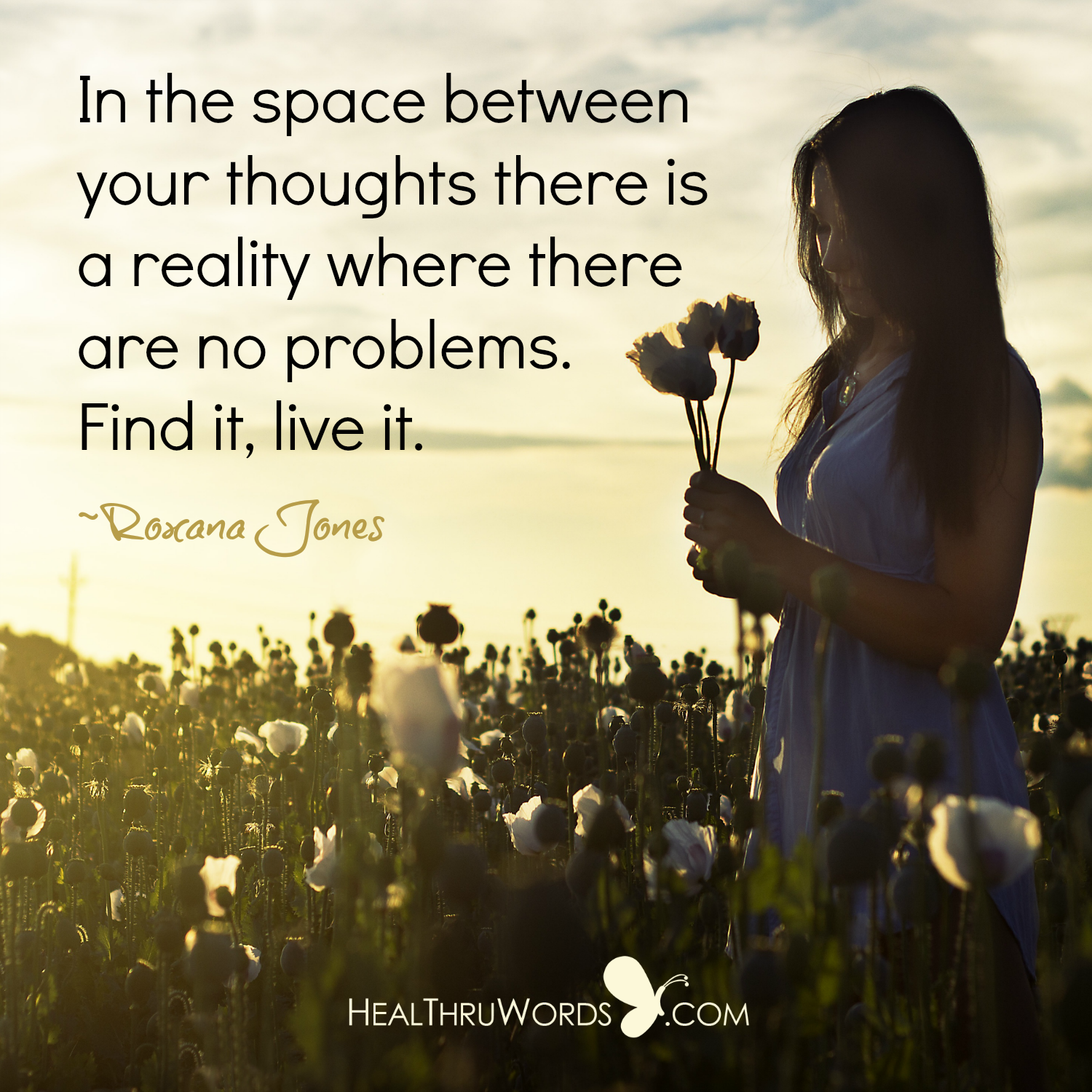Inspirational Image: The Space Between Thoughts