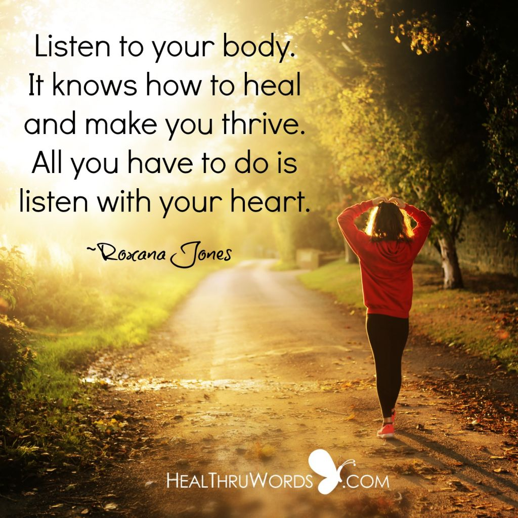 Inspirational Image - The Body Knows