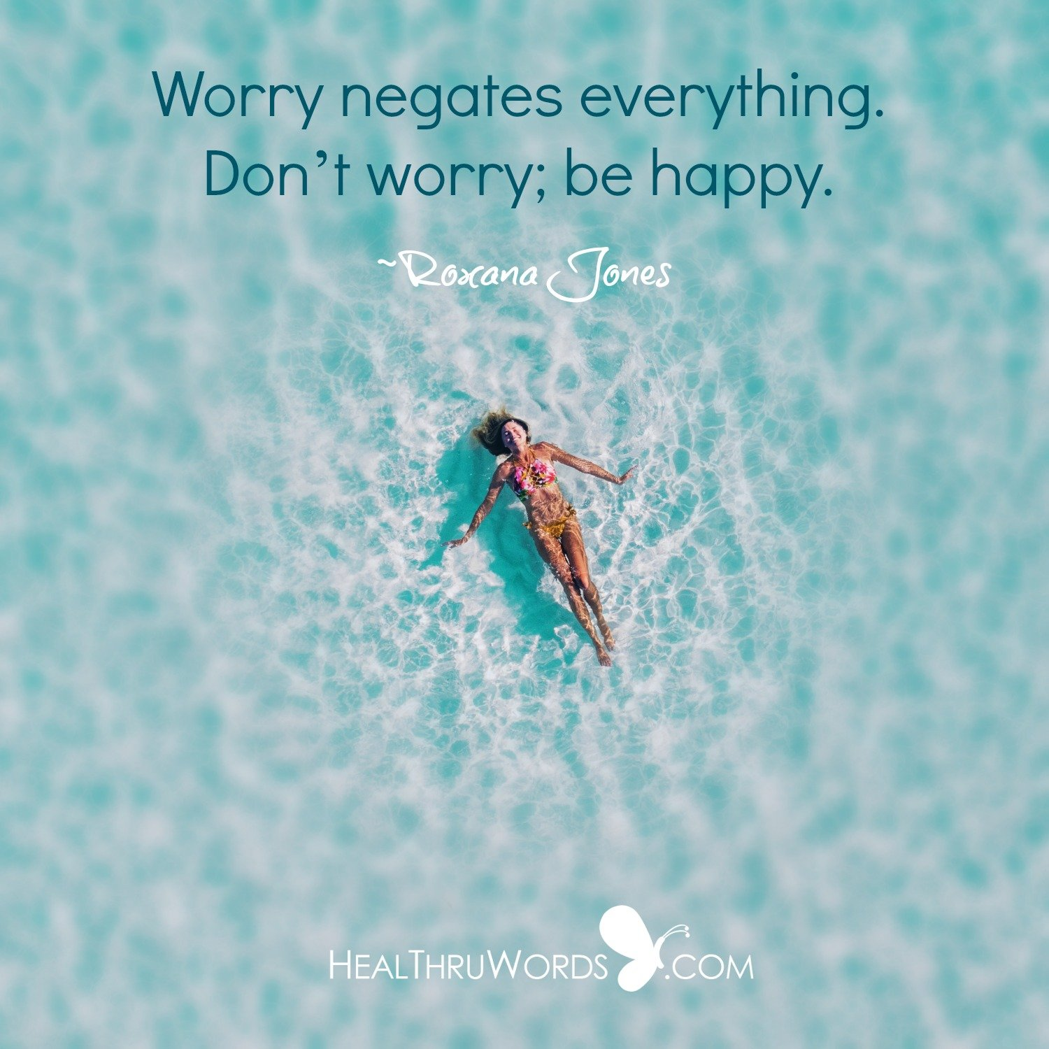 Inspirational Image: Worry Free Zone
