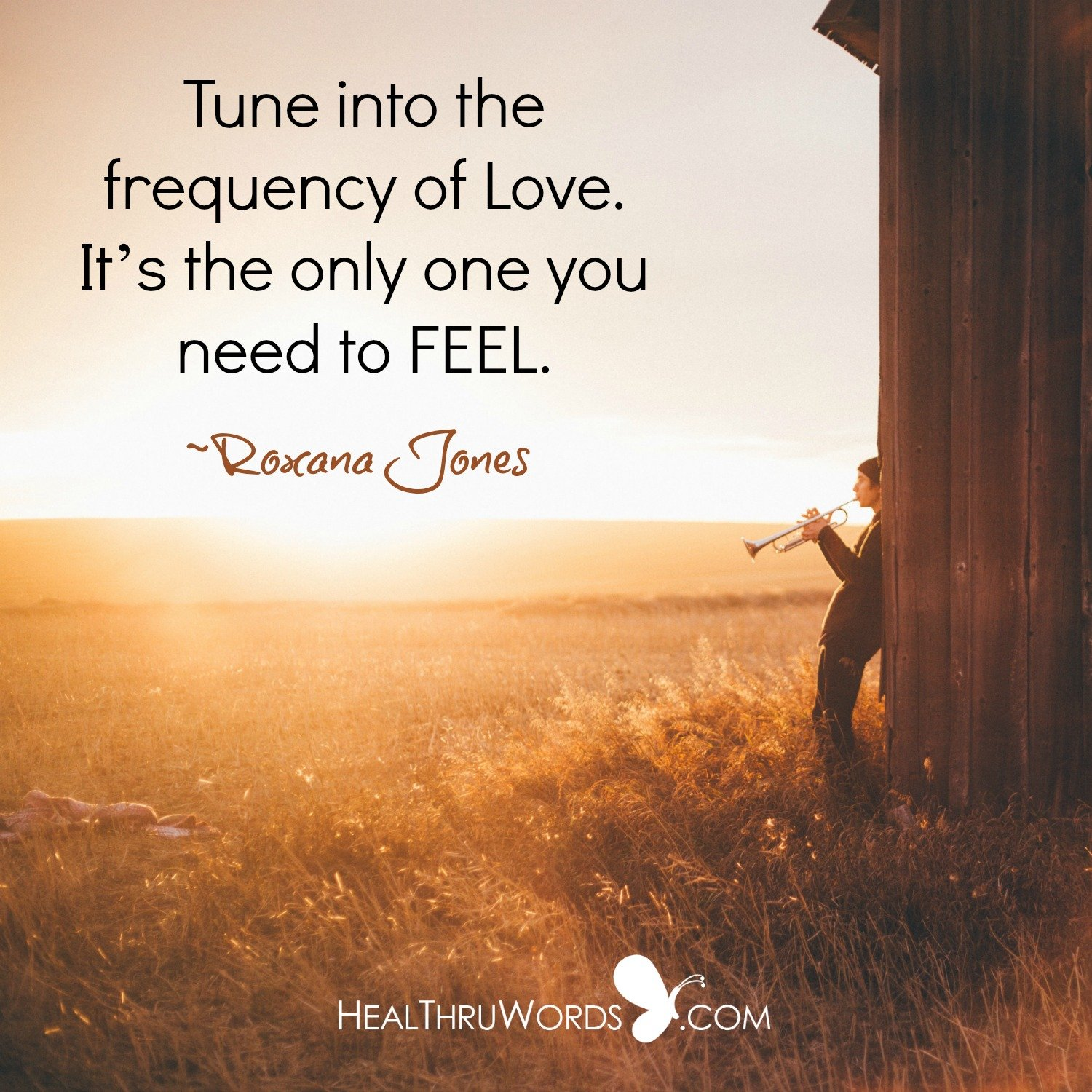 Inspirational Image: Feeling Your Frequency