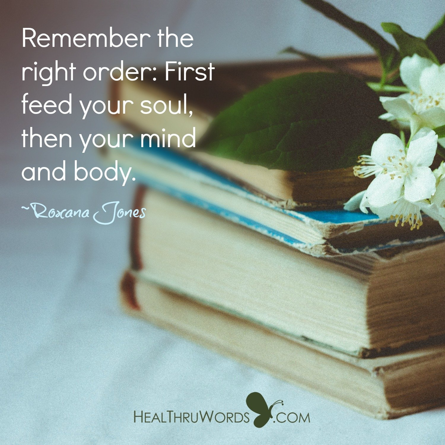 Inspirational Image: Right Order